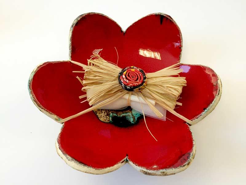 Ciotola fiore grande con kit confetti