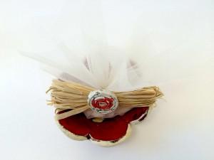 Ciotola fiore piccola con kit confetti