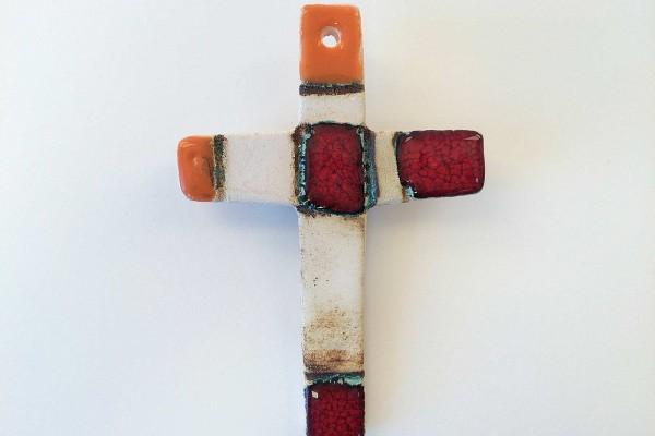 Crocifisso in ceramica