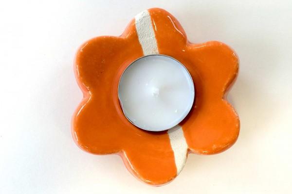 Portacandela Fiore arancio