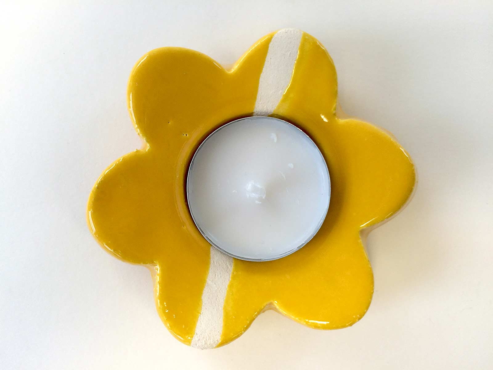 Portacandela Fiore giallo