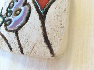 Dettaglio mattonella su legno fiore-2