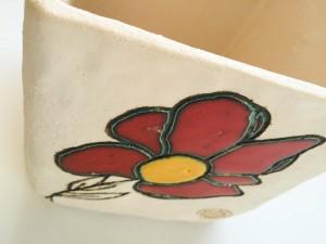 Portavaso fiore in ceramica decorata